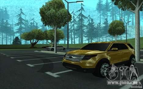Ford Explorer Limited 2013 für GTA San Andreas Innenansicht