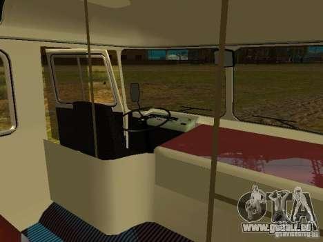 RAINURE 672.60 extérieure pour GTA San Andreas vue intérieure