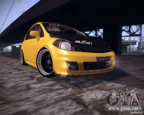 Nissan Versa Tuned pour GTA San Andreas laissé vue