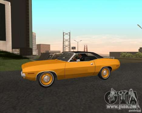 Plymouth Cuda Ragtop 1970 pour GTA San Andreas