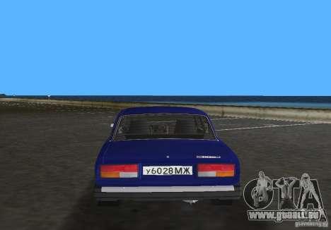 VAZ 2107 LADA Auto für GTA Vice City zurück linke Ansicht