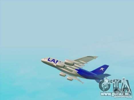 Airbus A380-800 Lan Airlines pour GTA San Andreas vue de droite