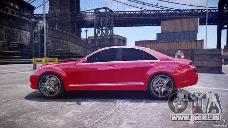Mercedes Benz w221 s500 v1.0 cls amg wheels für GTA 4 linke Ansicht