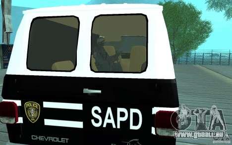 Chevrolet G20 Enforcer pour GTA San Andreas vue de droite