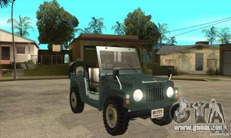 Suzuki Jimny für GTA San Andreas Rückansicht