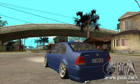 VW Bora VR6 Street Style für GTA San Andreas zurück linke Ansicht