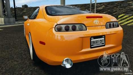Toyota Supra Tuning pour GTA 4 Vue arrière de la gauche