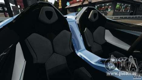 Lamborghini Aventador J 2012 pour GTA 4 est une vue de l'intérieur