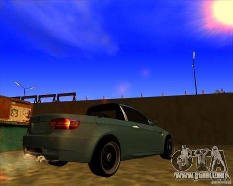 BMW M3 E90 pickup pour GTA San Andreas sur la vue arrière gauche