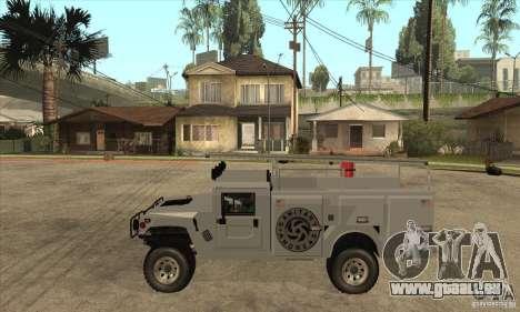 Hummer H1 Utility Truck pour GTA San Andreas laissé vue