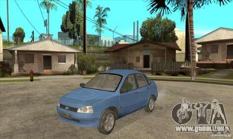 VAZ 1118 Kalina für GTA San Andreas Innenansicht
