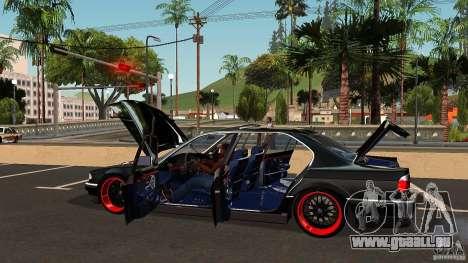 BMW E38 750LI pour GTA San Andreas vue de dessous