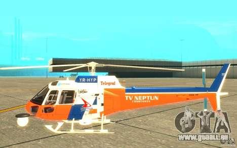 AS-350 TV pour GTA San Andreas sur la vue arrière gauche