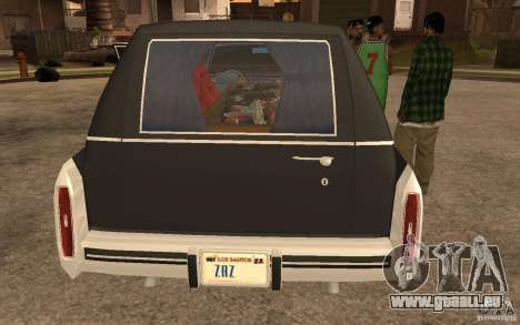 Cadillac Fleetwood Hearse 1985 für GTA San Andreas zurück linke Ansicht