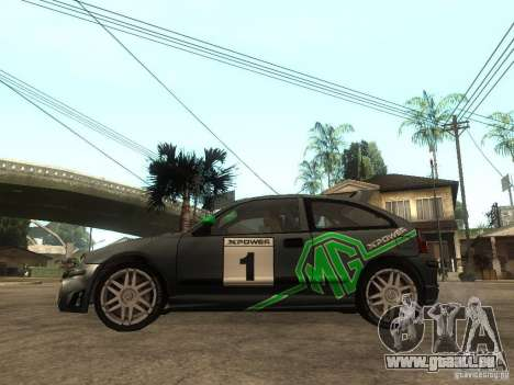 Rover MG ZR EX258 für GTA San Andreas linke Ansicht
