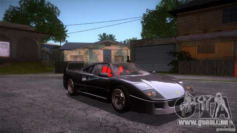 Ferrari F40 für GTA San Andreas Rückansicht