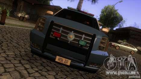 Cadillac Escalade 2007 Cop Car für GTA San Andreas Innenansicht