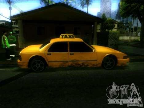 Sunrise Taxi pour GTA San Andreas laissé vue