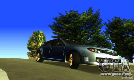Subaru Impresa WRX STI 2008 pour GTA San Andreas vue de droite