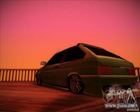 VAZ 2108 tuning pour GTA San Andreas sur la vue arrière gauche