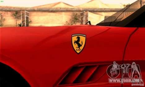 Ferrari California V3 pour GTA San Andreas vue de côté