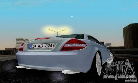 Mercedes-Benz SLK 55 AMG pour GTA San Andreas sur la vue arrière gauche