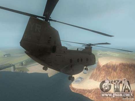CH46 pour GTA San Andreas vue de droite