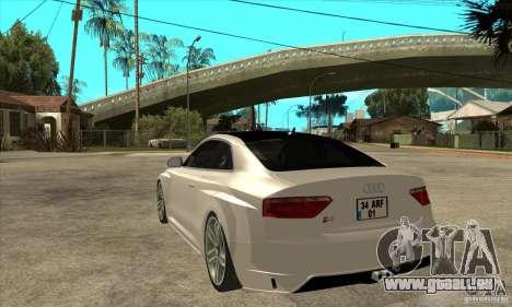 Audi S5 Quattro Tuning pour GTA San Andreas sur la vue arrière gauche