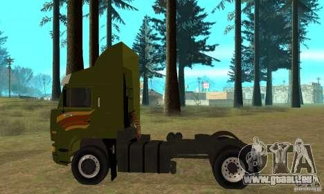 KAMAZ 5460 peau 3 pour GTA San Andreas sur la vue arrière gauche