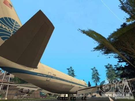 Boeing 747-100 Pan American Airways für GTA San Andreas rechten Ansicht