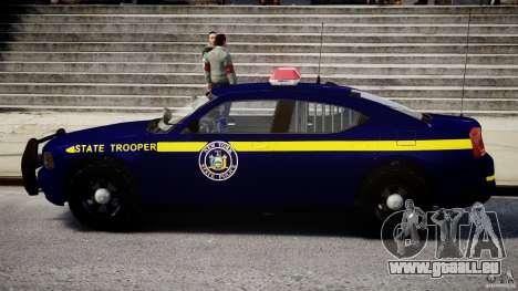 Dodge Charger NY State Trooper CHGR-V2.1M [ELS] pour GTA 4 Vue arrière de la gauche