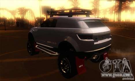 Land Rover Evoque für GTA San Andreas zurück linke Ansicht