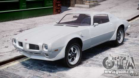 Pontiac Firebird Esprit 1971 pour GTA 4 est une gauche