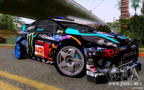 Ford Fiesta 2013 v2.0 für GTA San Andreas Rückansicht