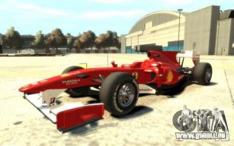 2010 Scuderia Ferrari F10 für GTA 4