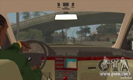 BMW E38 750IL pour GTA San Andreas vue intérieure