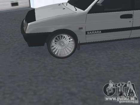 VAZ 2109 accordable pour GTA San Andreas vue de droite