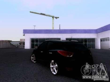 Hyundai ix35 pour GTA San Andreas sur la vue arrière gauche
