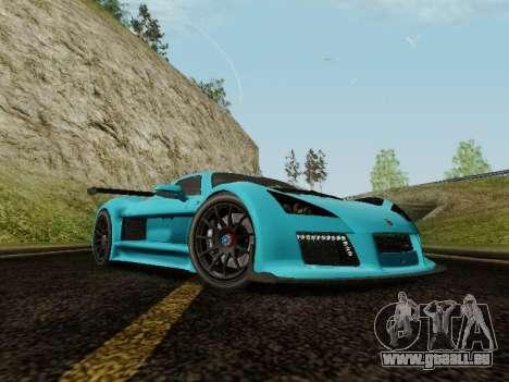 Gumpert Apollo S 2012 pour GTA San Andreas vue de droite