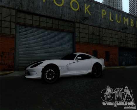 Dodge Viper SRT 2013 für GTA San Andreas Innenansicht