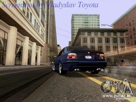 BMW E39 M5 2004 pour GTA San Andreas vue arrière