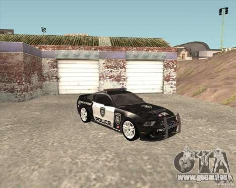 Ford Shelby GT500 2010 Police pour GTA San Andreas sur la vue arrière gauche