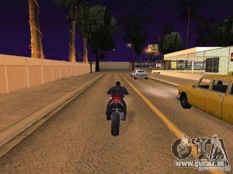 Moto saut dans ma voiture pour GTA San Andreas