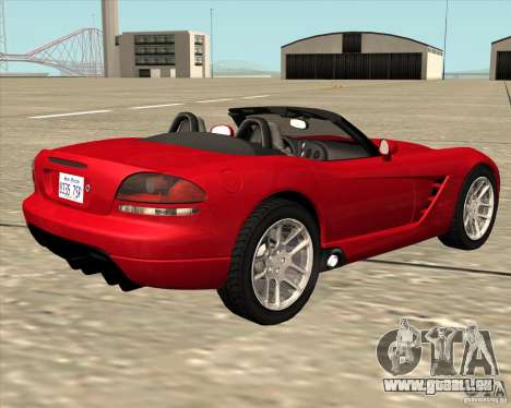 Dodge Viper SRT-10 Roadster für GTA San Andreas linke Ansicht