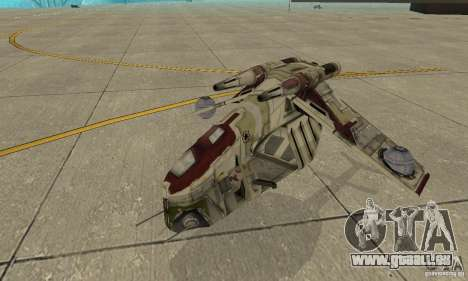 République Gunship de Star Wars pour GTA San Andreas