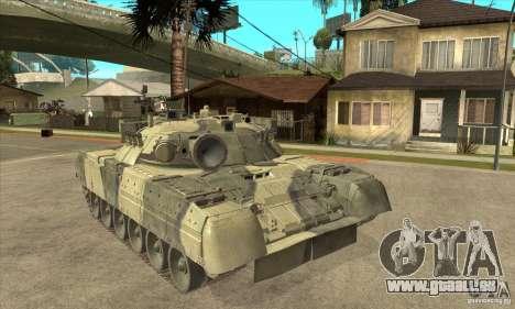T-80U MBT pour GTA San Andreas vue arrière