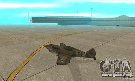 P-35 pour GTA San Andreas sur la vue arrière gauche