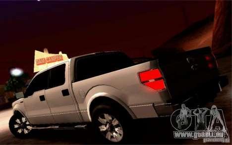 Ford Lobo 2012 für GTA San Andreas Innenansicht