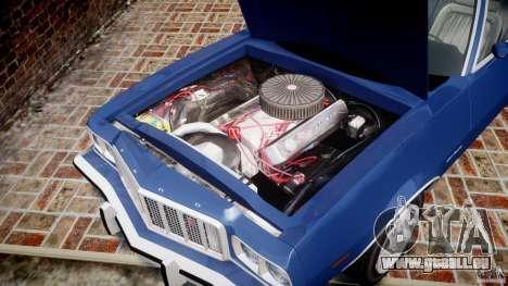 Ford Gran Torino 1975 für GTA 4 Innenansicht