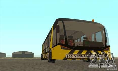 Bus pour l'aéroport pour GTA San Andreas vue arrière